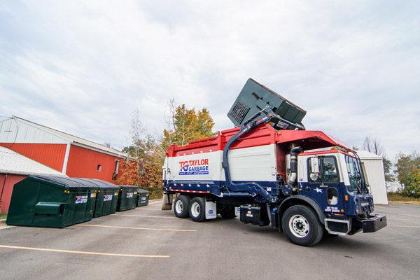 Commercial Front-Loader Dumping