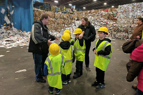 Kids at the Recycling Center