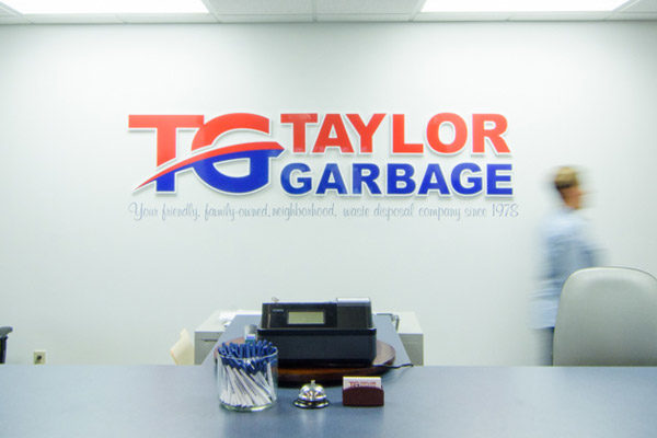 Taylor Garbage Sign