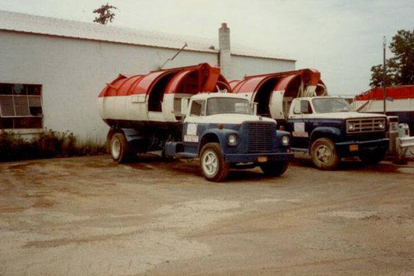 Old Cylinder Garbage Trucks