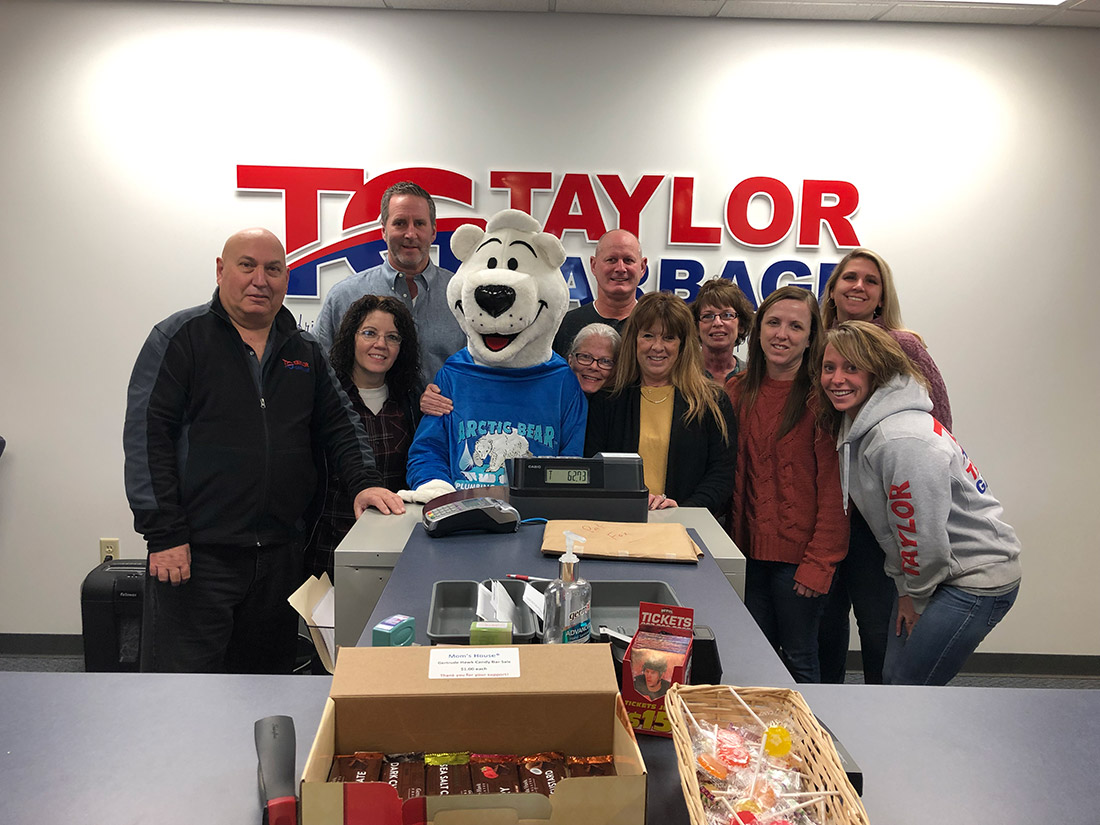 Austin the Arctic Bear visiting Taylor Garbage