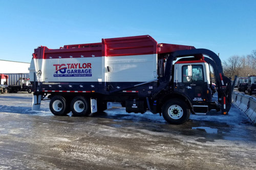 Commercial Front-Loader in the Winter